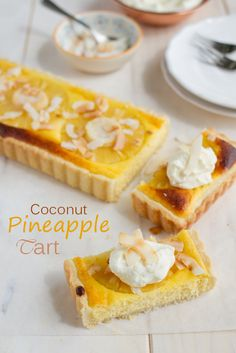 Tropical Coconut Pineapple Tart {by Icing-Sugar.net}