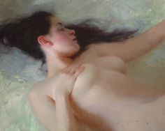 Jeremy Lipking - Venus ... one of his exceedingly beautiful signature works (1975 - American figurative painter).