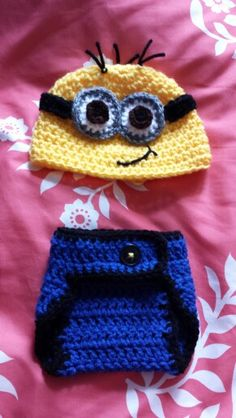 Despicable Me Minion newborn baby costume/outfit. Contact me for size options and prices!