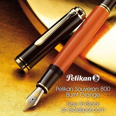We're currently unpacking the new @pelikan_company Souveran M800 Burnt Orange. Any pre-orders are shipping immediately today. If you're interested in one of these fall beauties check out the shop link in our profile. Like the changing leaves they won't be around for long! #autumn #fountainpens #pelikan #pelikanpen #souveran #orange #fall @pelikan_international by goldspotpens