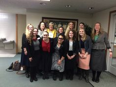 Sister Missionaries visit with Sister Wixom. January 2015 Washington Tacoma Mission.  Missionaries for the Church of Jesus Christ of Latter Day Saints.