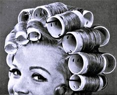 Back in the day: Hair curlers 1950s Hairstyles, Vintage Hairstyles, Sleep In Hair Rollers, Perm Rods, Bobe, Classic Image, Roller Set, Thats The Way, Curlers