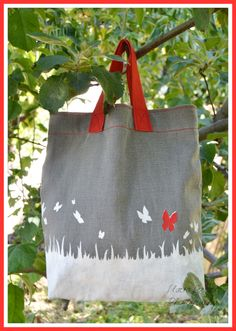 DIY- Butterflies TOTE BAG www.labandedesfaineantes.blogspot.it