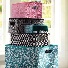 """Open top canvas bins 20-60 dollars  Small: 7"""" wide x 13"""" deep x 6"""" high  Medium: 9.5"""" wide x 13.5"""" deep x 10.5"""" high  Large: 12.5"""" wide x 17.25"""" deep x 11.5"""" high  Made of piece dyed canvas.  Sold individually."""