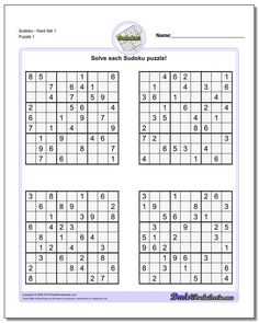 These medium difficulty sudoku puzzles will get you ready for the harder puzzles typically found in newspapers or magazines. These sudoku are great exercises for kids in grade school who are learning logic puzzle strategies. Hard Puzzles, Sudoku Puzzles, Logic Puzzles, Difficult Puzzles, Free Printable Math Worksheets, Worksheets For Kids, Printables, Free Puzzles For Kids, Logic Problems
