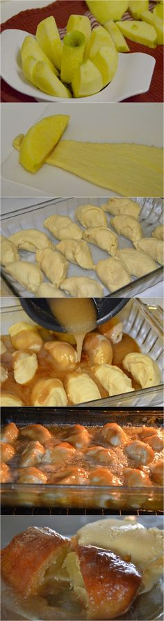"Reader comment ""My grandmother showed me how to make these many moons ago...they are to die for...and so easy!!!! Southern Apple Dumplings Recipe"""