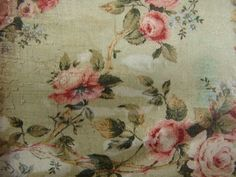 Vintage French Wallpaper | vintage floral wallpaper image,French shabby chic roses,large wooden ...