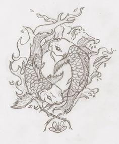 Yin and Yang Koi Fish by RobinEvaFayEmbry.deviantart.com on @DeviantArt