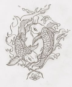 Yin and Yang Koi Fish by RobinEvaFayEmbry.deviantart.com on @DeviantArt