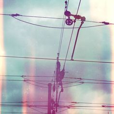 This reminds me of the childhood days of staring out the window at the power lines... City girl childhood! Photography Illustration, Abstract Photography, Color Photography, Landscape Photography, Fashion Photography, Love Photos, Lomography, Double Exposure, Childhood Days