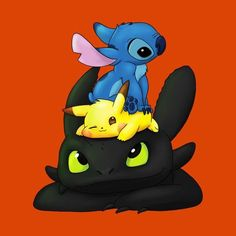 Stitch, Pikachu and Toothless - Pokemon about you searching for. Cartoon Cartoon, Drawing Cartoon Characters, Cartoon Drawings, Cute Disney Characters, Disney Movies, Character Drawing, Cute Pokemon Wallpaper, Cute Disney Wallpaper, Cute Cartoon Wallpapers
