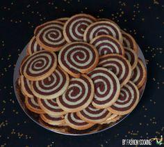 sables spirales noir blanc Calendrier de l'Avent des cadeaux gourmands 21 déc – Sablés spirale vanille chocolat