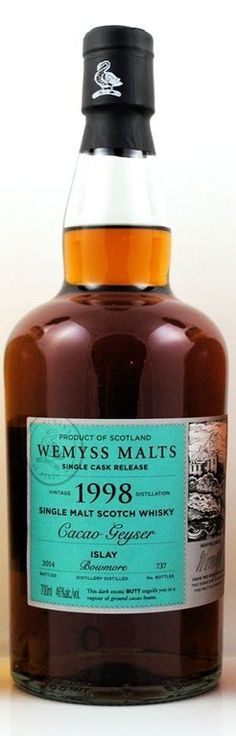 A Two Faced Bowmore Single Cask - The Wemyss 1998 Cacao-Geyser | Malt and Oak: Whisky Tasting Notes | Whisky Guide | Whisky Blog (Photo Credit: spirituosen-und-zigarren.de)