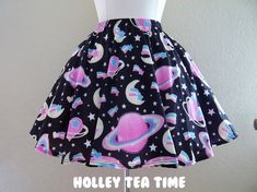 Saturn's wish black skater skirt MADE TO ORDER sold by Holley Tea Time. Shop more products from Holley Tea Time on Storenvy, the home of independent small businesses all over the world.