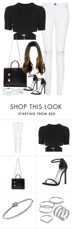 """""""Untitled#4230"""" by fashionnfacts ❤ liked on Polyvore featuring T By Alexander Wang, Yves Saint Laurent, Stuart Weitzman, Michael Kors and Apt. 9"""