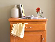 Furniture Upcycle with Chalk Paint Decorative Paint by Annie Sloan - top half of cabinet - offbeat + inspired