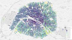 Carte Paris  Progression construction bâtiments (extension de la ville)