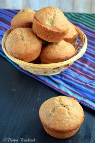 Divya's culinary journey: Whole wheat Banana Muffins( Eggless)