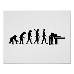 Evolution Billiards Poster