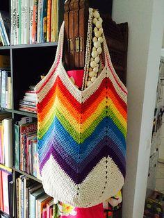 Crochet Solid Granny Square Bottom Bag Crochet ❥ ༺✿ƬⱤღ✿༻