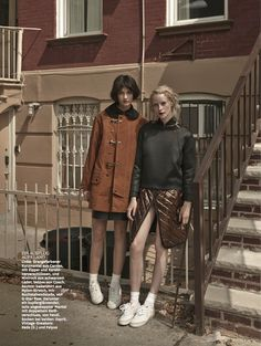 girls: ali arboux, anastasija titko and edythe hughes by hong jang hyun for glamour germany october 2014