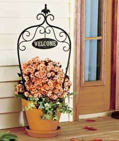 Welcome Planter Stake | The Lakeside Collection