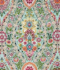 Theodora Linen and Cotton Print - Brunschwig & pinned by www.karensavagedesign.com