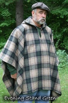Fred Asbell Traditional Archery Wool Pullover Page. loving this hooded poncho! Traditional Bowhunting, Traditional Archery, Hooded Poncho, Wool Poncho, Recurve Bows, Sewing Tutorials, Sewing Ideas, Nuno Felting, Country Outfits