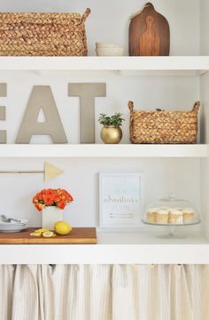 DIY Built-ins Serves as a Dessert Bar