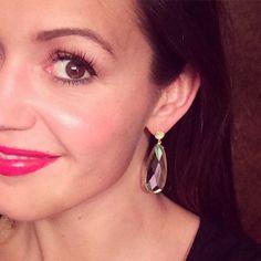 Desiree's Earrings | Gold Aura Teardrop Earrings  | by Desiree for KV Bijou Jewelry | {click photo to shop}