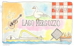 Lago Mergozzo #illustratie #artjournal #watercolour #vakantie #italie