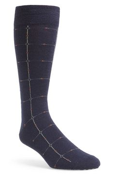 Men's Cole Haan Grid Socks - Blue