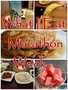 How to eat before your marathon and during marathon training.