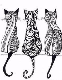 Katzen Ornamente
