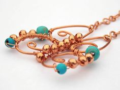 Copper Butterfly Necklace Dyed Howlite by PhillipaJaneDesigns