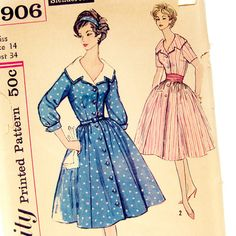 1950s Sewing Pattern Simplicity 2906 Rockabilly by SelvedgeShop