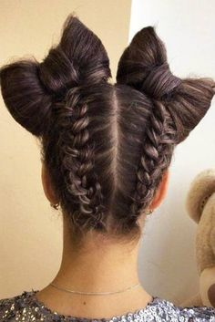 Cute Braided Space Bun Hairstyles Picture 2