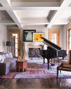 "5,261 Beğenme, 40 Yorum - Instagram'da Luxe Interiors + Design (@luxemagazine): ""Music makes the world go 'round. #LuxeAtHome. @sandow 