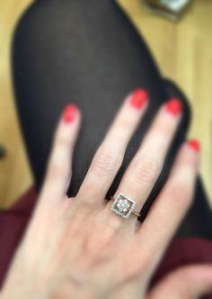 An exquisitely unique bespoke diamond ring. #thediamondstoreuk #engagementring #engagement #ring #diamonds #sparkle #jewellery