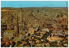 Johannesburg Skyline late looking south. Johannesburg Skyline, Third World Countries, African History, Old Pictures, South Africa, Landscape Photography, City Photo, Pretoria, Towers