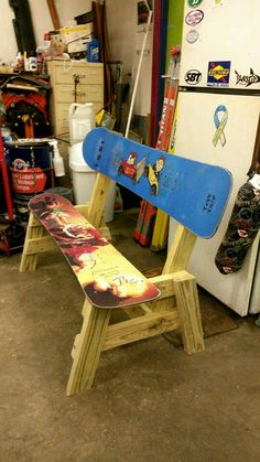 First snowboard bench done!