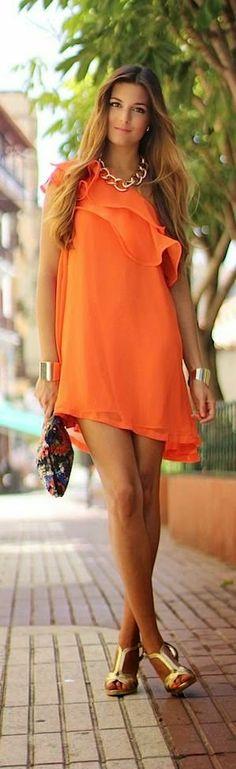 shopzaozao.com - Summer Street Style shopthejourney.tumblr.com   orange and gold