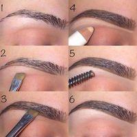 Make Up; Make Up Looks; Make Up Augen; Make Up Prom;Make Up Face; Eyebrow Makeup Tips, Skin Makeup, Beauty Makeup, Makeup Eyebrows, Eye Brows, Drawing Eyebrows, Makeup Drawing, Makeup Steps, Eyebrow Wax