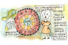 """Os astros no céu, os astros na terra e o mensageiro errado: """"Amiga, todo o cuidado é pouco! Ouve o que te digo; se queres prosperar na vida, foge das previsões astrológicas! É impossível iniciar o novo ano, sem falar em astrologia. Adoro os astros e a forma como influenciam todas as coisas vivas, o problema para mim, são mesmo os astrólogos!"""""""