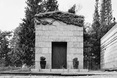 Malmström family vault at the North Cemetery in Stockholm, Sweden  by Sigurd Lewerentz in 1926-28
