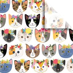 "Jillson & Roberts Printed Gift Tissue 20"" x 30"", Kitty Cats, 240 Sheet – Present Paper"