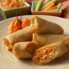 Buffalo Chicken Eggrolls