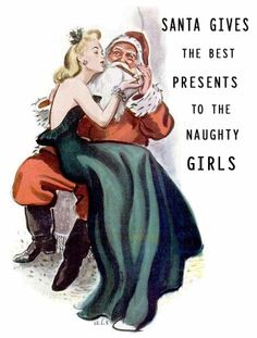 Santa gives the best presents to the naughty girls
