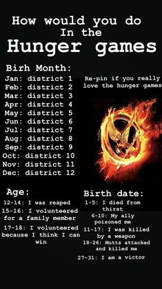 Tell us how you did in the hunger games in the comments! RE-PIN IF YOU REALLY LOVE THE HUNGER GAMES!