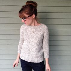 Adorable Lesley pullover knitted by @schmidcr  pattern from my book Home & Away link in profile and from your LYS! by knitbot